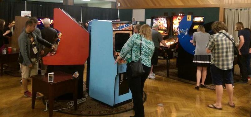 Arcade rental at an event