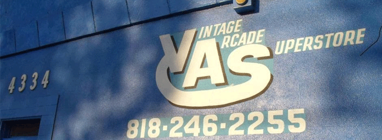 Vintage Arcade Superstore's physical store front signage