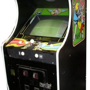 Side view of 10-Yard Fight arcade game with side art