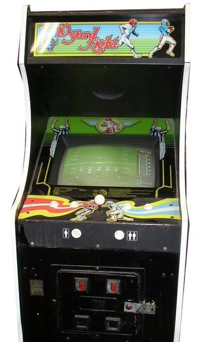 Front view of the 10 yard fight cabinet