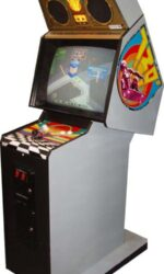 Side view of 720 Degrees arcade game with side art