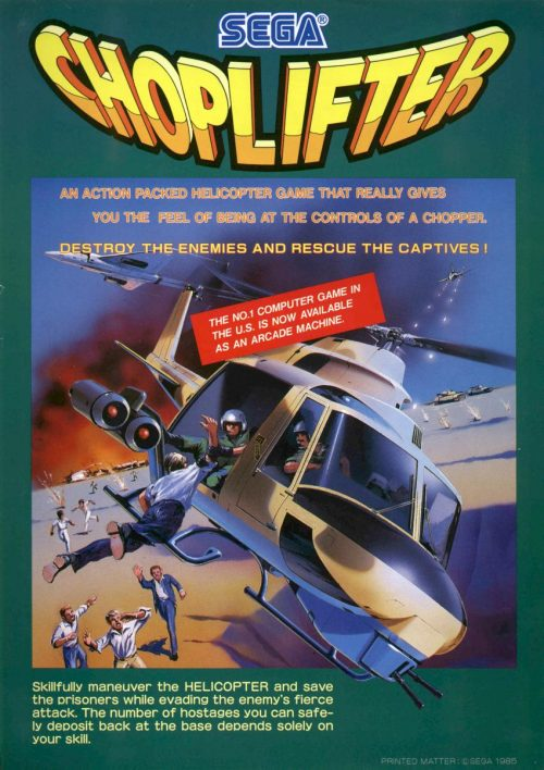Choplifter Arcade Art