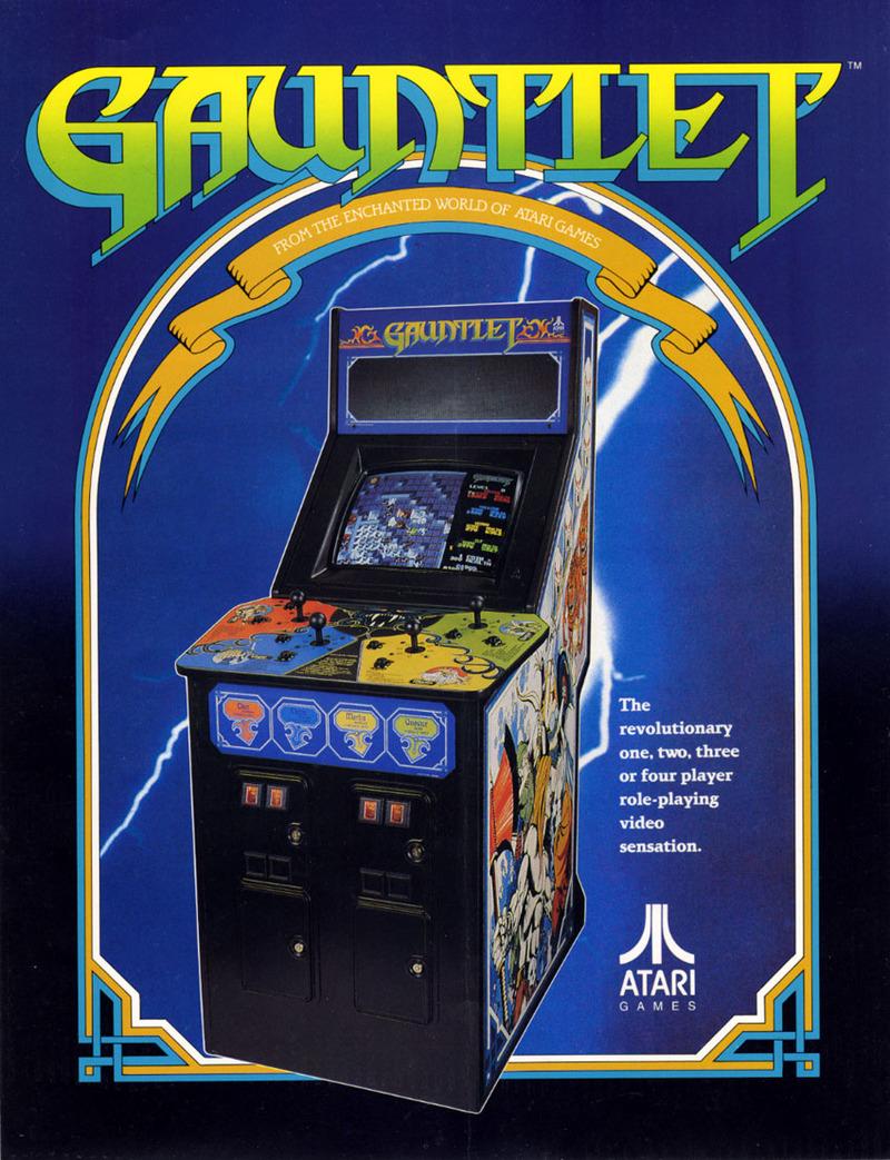 Gauntlet 4 Player Vintage Arcade Superstore