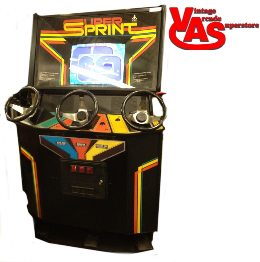 Super Sprint Arcade Game For Sale Vintage Arcade