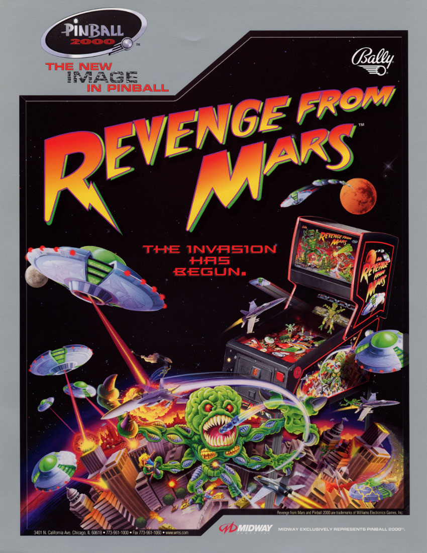 from mars pinball machine for sale