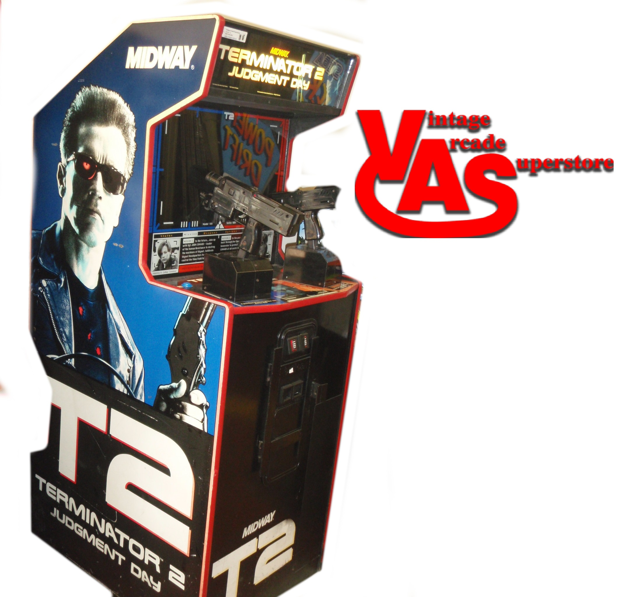 Terminator 2 Arcade Game For Sale Vintage Arcade