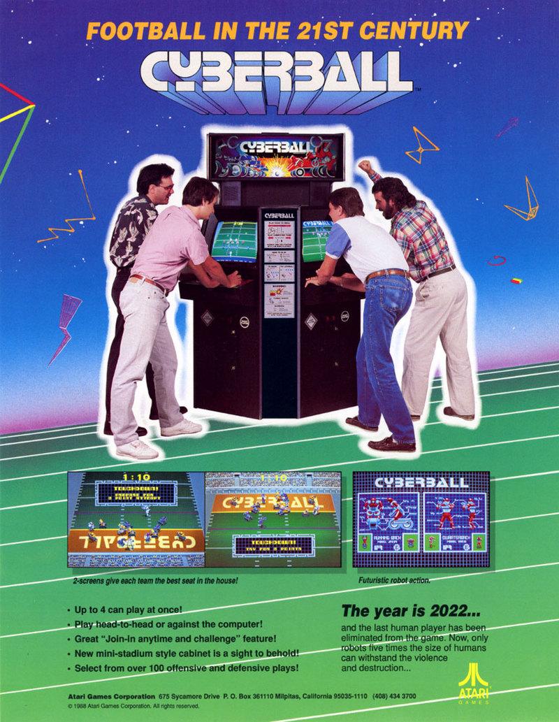 cyberball arcade machine