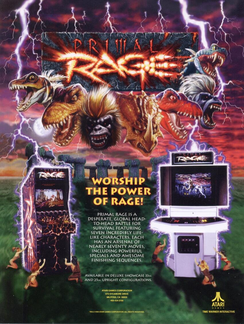 Primal Rage Arcade Game | Vintage Arcade Superstore