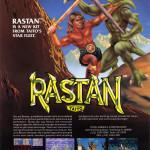 Rastan Vintage Arcade Game Poster
