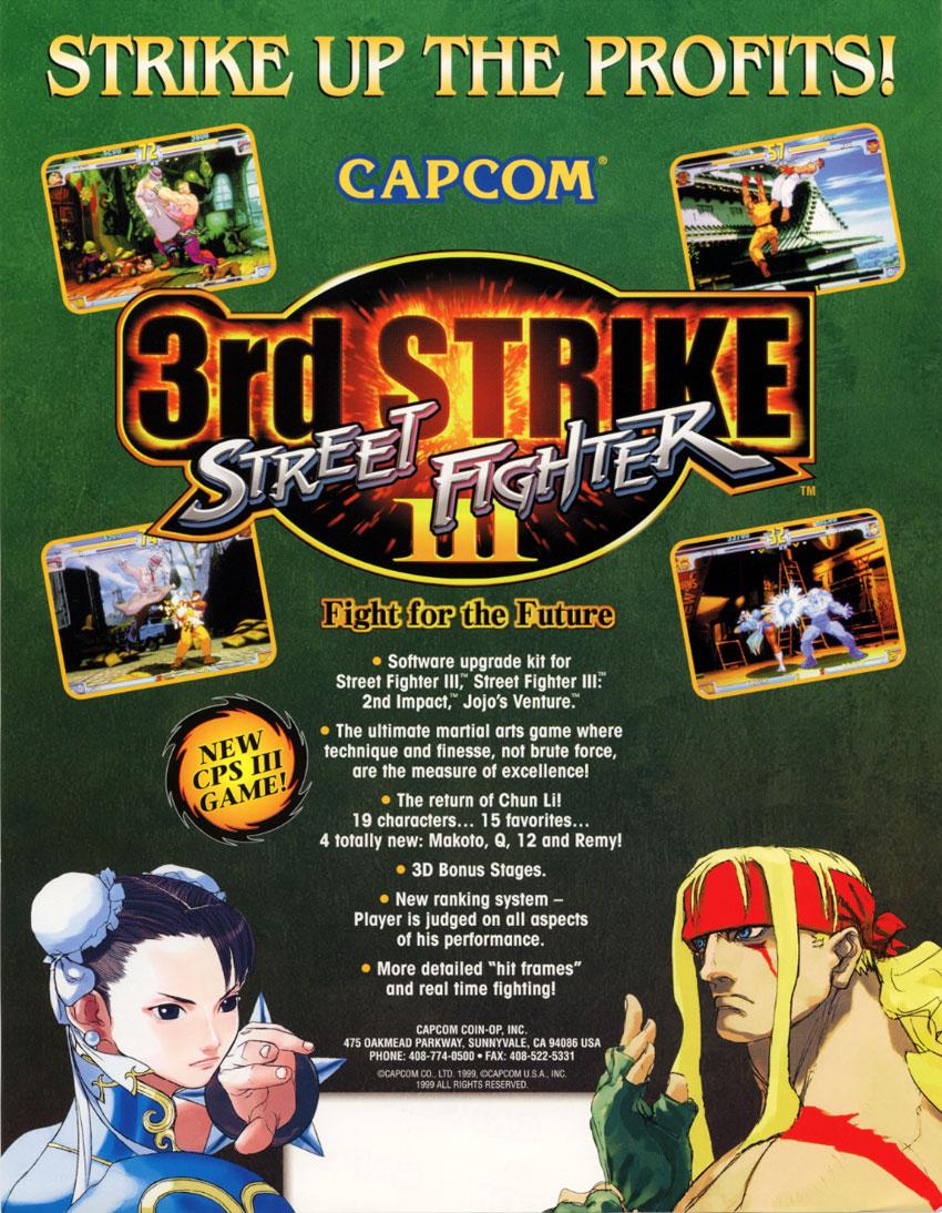 Street Fighter III 3rd Strike - Vintage Arcade Superstore