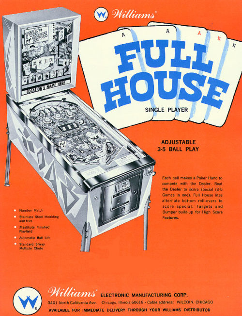 full house pinball machine