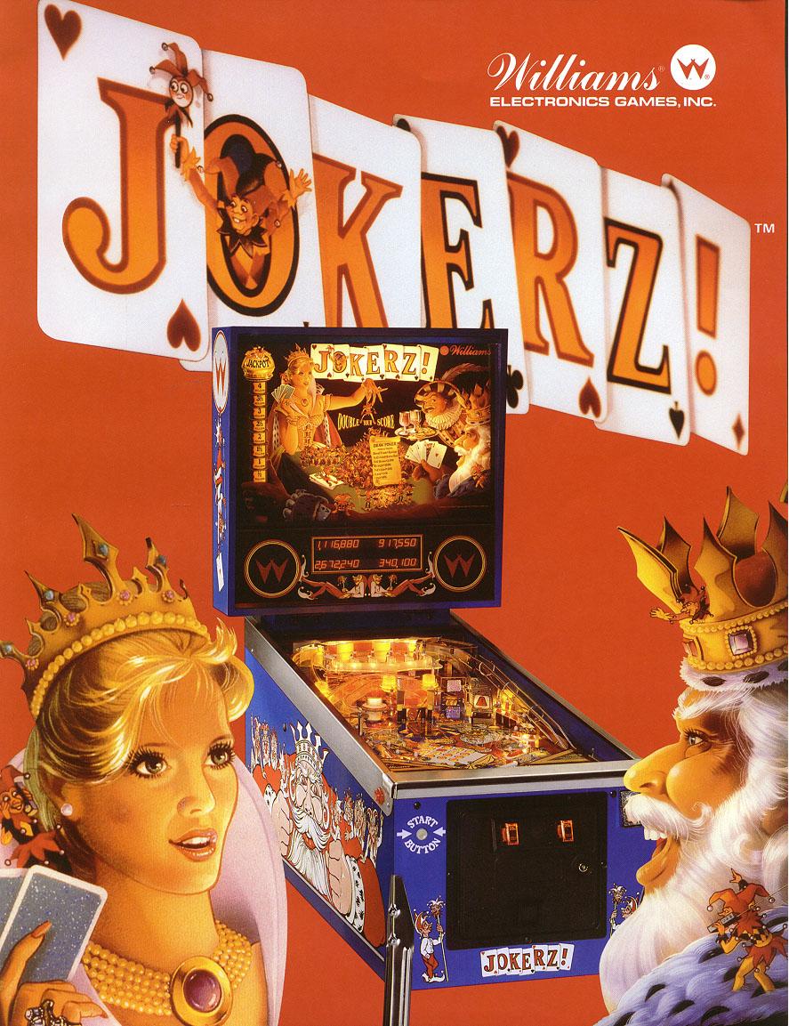 jokerz pinball machine