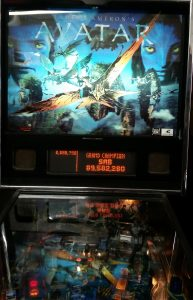 Avatar Pinball Machine Backglass