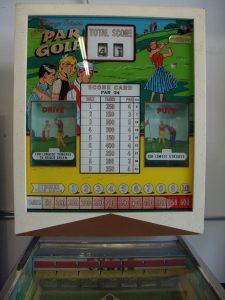 Super Par Golf Pinball Machine Backglass