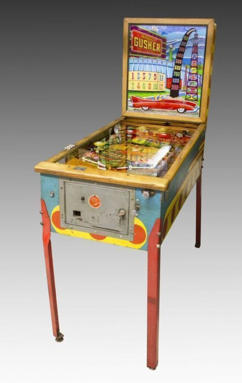 gusher pinball machine
