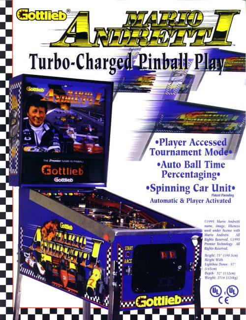 Mario Andretti Pinball Machine