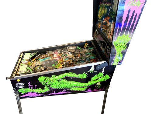Creature Black Lagoon Pinball Machine Side View