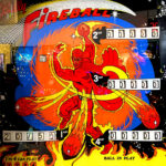 Fireball Pinball Machine Backglass